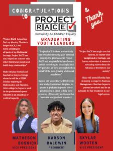 Congrats & Thank you Project race teens leadership team